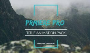 Read more about the article How To Use Premiere Pro Title Animation pack?
