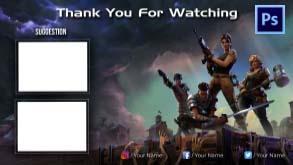 Fortnite end screen #1