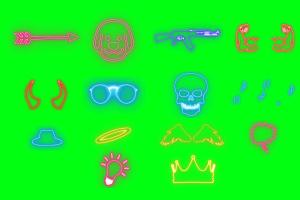 Green Screen Glow fx Pack of 14