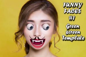 Funny Faces Green Screen #1