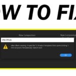 How to Fix Adobe After Effects File does not exist error?