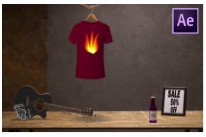 Sliding T-shirt Design Ad Promo