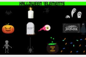 Animated Halloween Elements – Pack Of 12