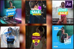Discount Sale badge for Social Media