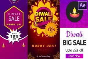 Diwali Discount Instagram Stories – Pack of 3