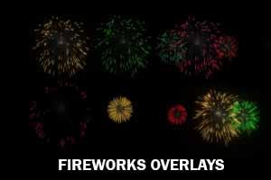 Realistic Fireworks Overlays