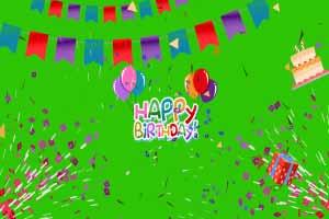 Happy Birthday Green Screen Pack #1