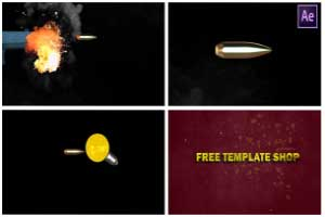 Gun Shot Bullet Logo Reveal