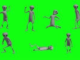 Green Screen Alien Animation